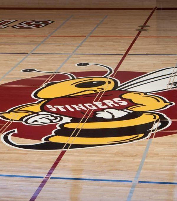 Concordia - Plancher de gymnase avec logo