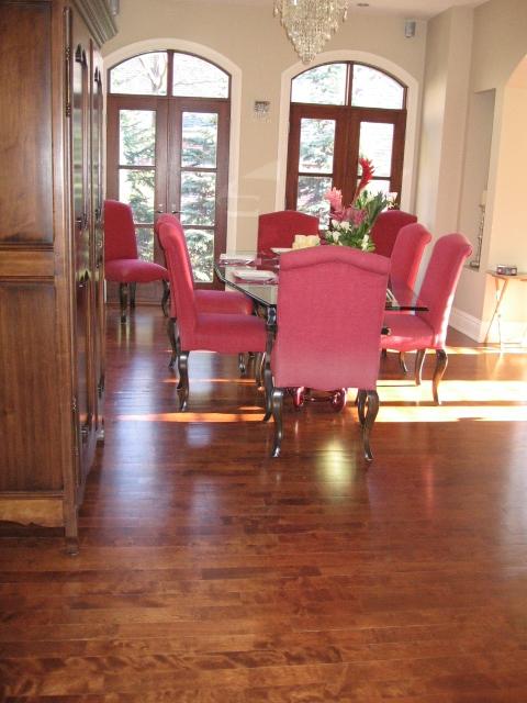 Residence Duval - Plancher en érable teint